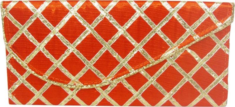 Wedding Pitara Fancy Shagun Orange Lace Envelopes(Pack of 3 Orange)