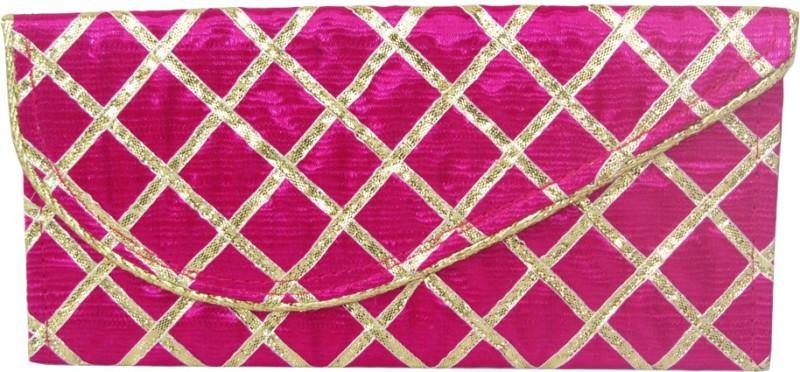 Wedding Pitara Fancy Shagun Pink Lace Envelopes(Pack of 3 Pink)