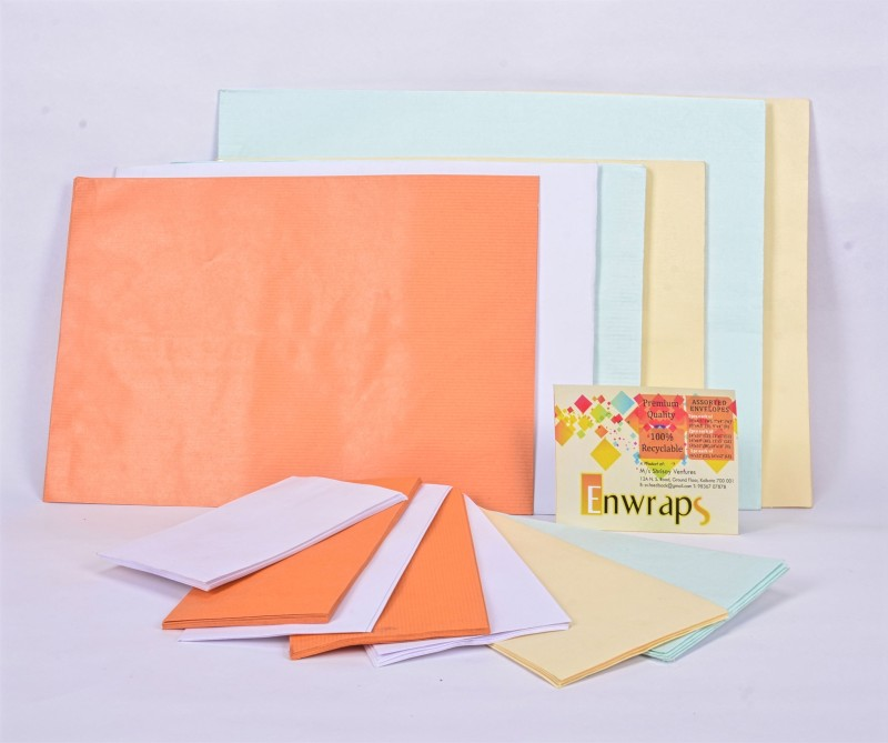 Enwraps Assorted Large Pack Envelopes(Pack of 68 Multicolor)