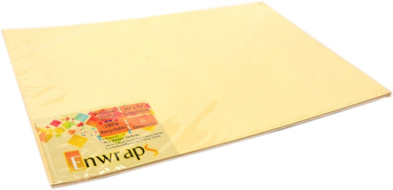 Enwraps Premium Laminated 16 x 12(inch) Envelopes(Pack of 20 Yellow)