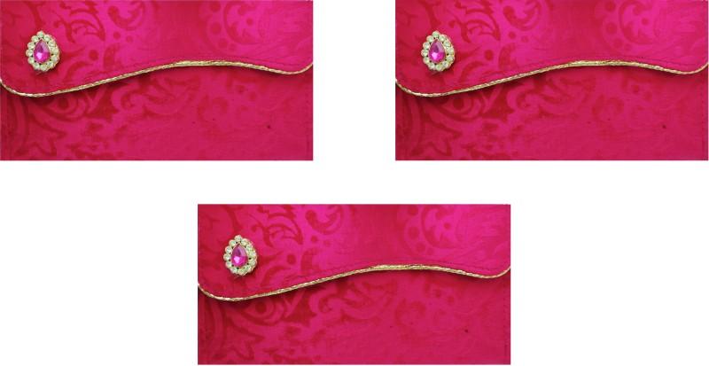 FashBlush Designer Ethnic Festivity Glamour Envelopes(Pack of 3 Pink, Gold)