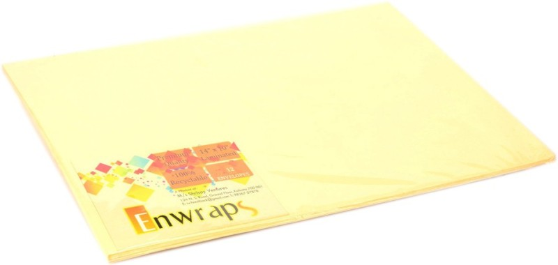 Enwraps Premium Laminated 14 x 10(inch) Envelopes(Pack of 24 Yellow)