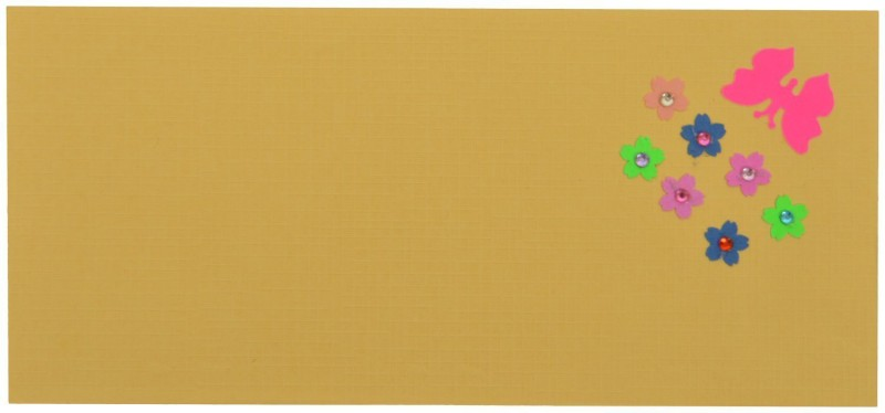 RMantra Classy Hand Decorated Envelopes(Pack of 5 Multicolor)