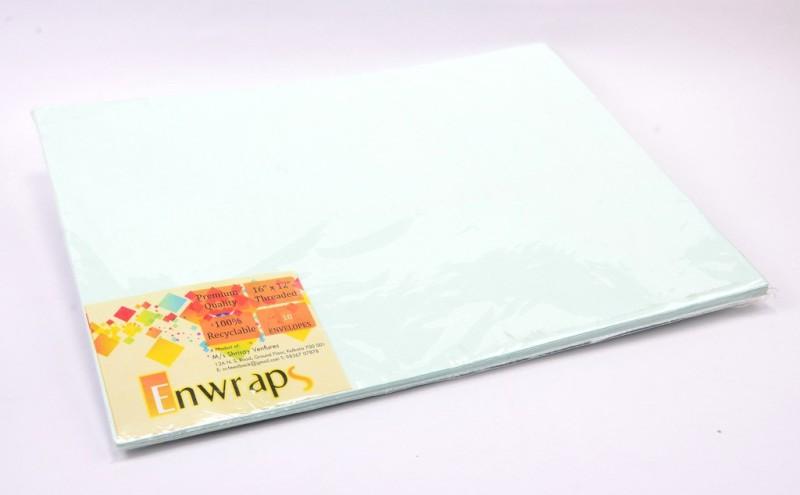 Enwraps Premium Threaded 16 x 12(inch) Envelopes(Pack of 20 Green)
