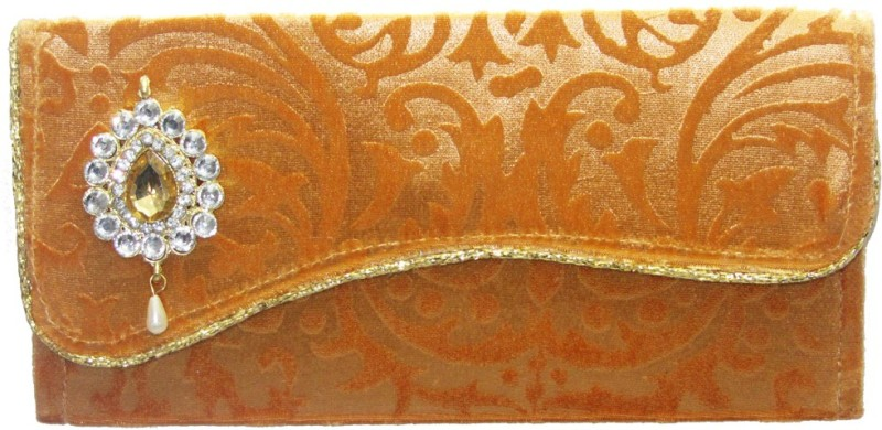 Wedding Pitara Fancy Shagun Velvet Golden Envelopes(Pack of 3 Gold)