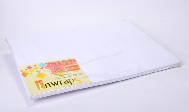 Enwraps Premium 90GSM 14 x 10(inch) Envelopes(Pack of 50 White)