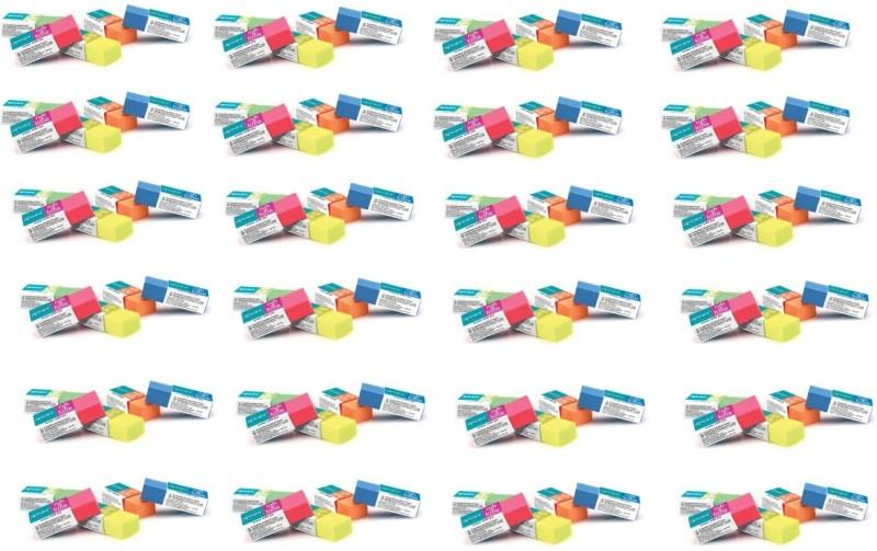 Apsara Rub A Long Non-Toxic rectangular Shaped Big Eraser(Multicolor)