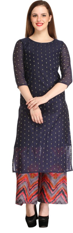 Cottinfab Women Kurta and Palazzo Set