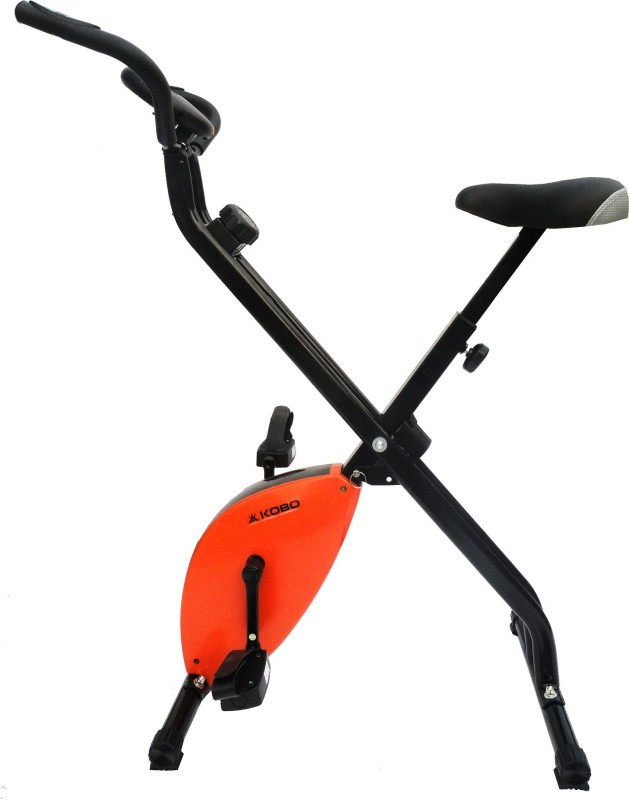 Kobo Imported Magnetic Exercise Cycle X-Bike (Folding) (Orange) Upright Stationary Exercise Bike(Orange)