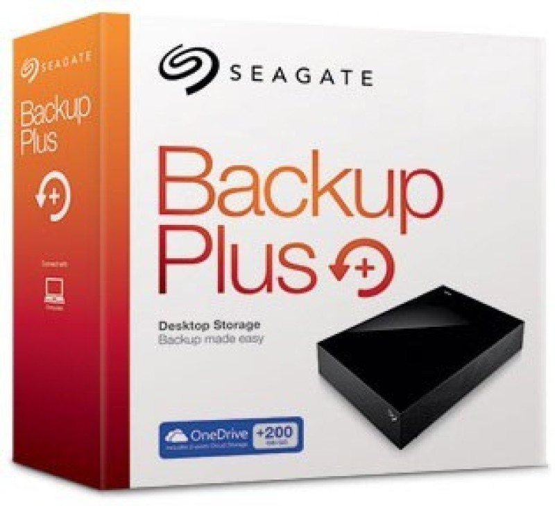 Seagate 6 TB Wired External Hard Disk Drive(Black, Mobile Backup Enabled, External Power Required)