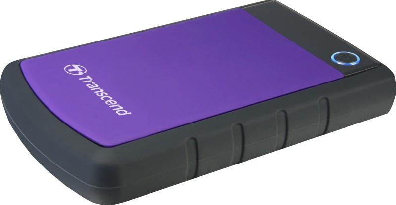 Transcend H3P 2 TB External Hard Disk Drive(Purple & Black) image