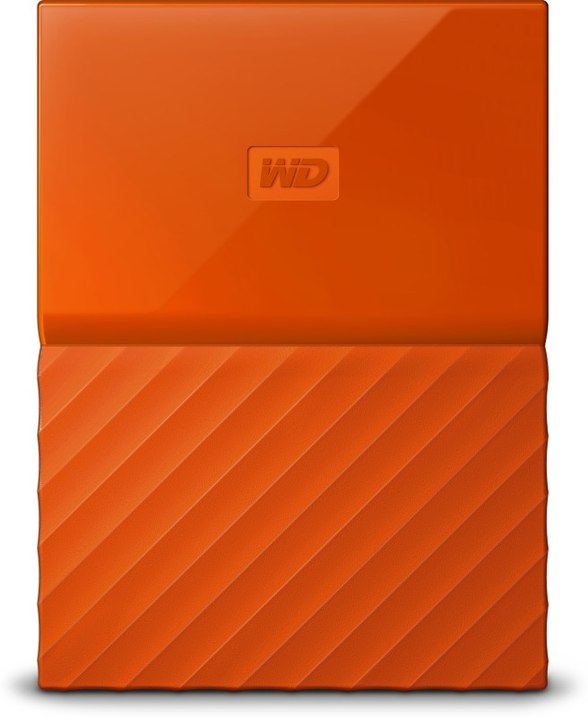 WD My Passport 1 TB Wired External Hard Disk Drive(Orange)
