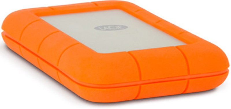 LaCie 2 TB Wired External Hard Disk Drive(Silver, Orange, External Power Required)