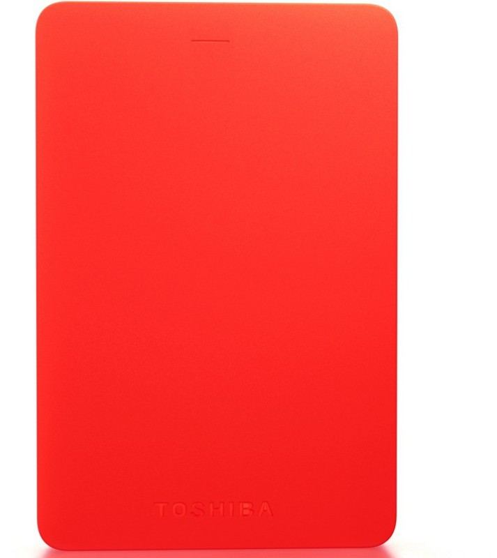 Toshiba Canvio Alumy 1 TB Wired External Hard Disk Drive(Red)