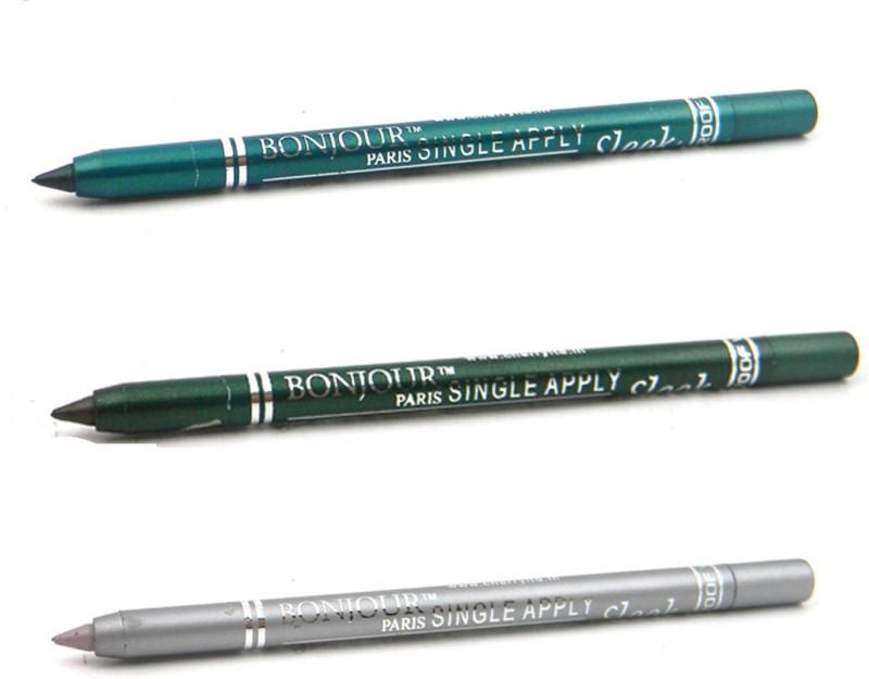 Bonjour Paris Single Apply 1507201632 Glazed Green-Leaf Green-Silver Kajal(Glazed Green, Silver, Leaf Green, 3.6 g)
