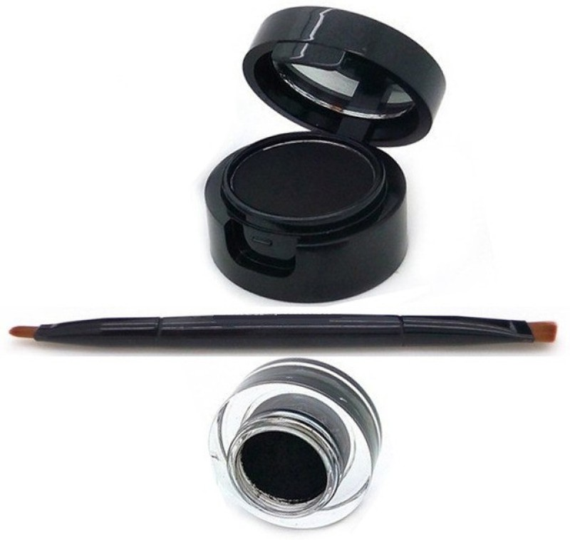 One Personal Care 2 in 1 Gel + Cake Liner | Be You | 9 to 9 Long Lasting Drama | Smudge/Waterproof 6 g(Black)