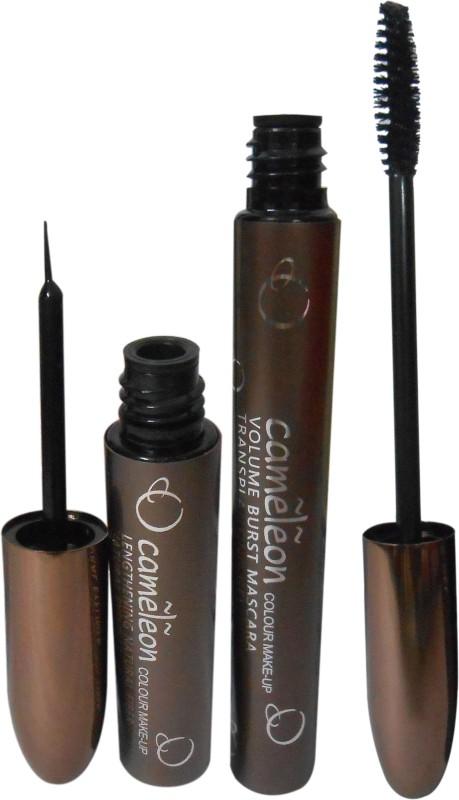 Cameleon Fiber Natural Eyeliner Volume Burst Mascara Transplanting Gel 12 ml(Black-1)