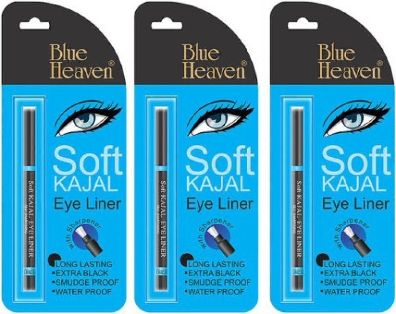 Blue Heaven soft kajal eyeliner (set of 3) 0.93 g(Black)