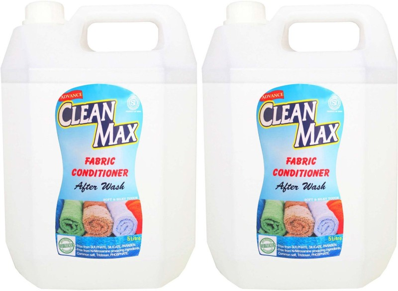 Cleanmax 5L -Pack Of 2- After Wash (Fresh Fragrance) Fresh Fabric Softener(2 x 2.5 L)