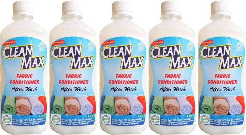 Cleanmax 1L -Pack Of 5- After Wash (Fresh Fragrance) Fresh Fabric Softener(5 x 0.2 L)