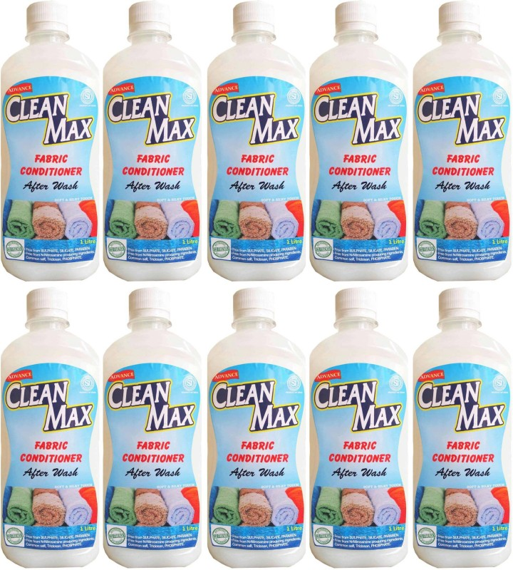 Cleanmax 1L -Pack Of 10- After Wash (Fresh Fragrance) Fresh Fabric Softener(10 x 0.1 L)