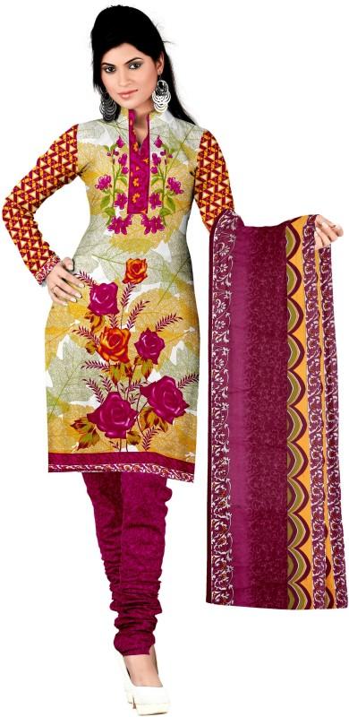 Women Latest Fancy Designer Salwar Suit Poly Crepe Printed Salwar Suit Material(Unstitched)