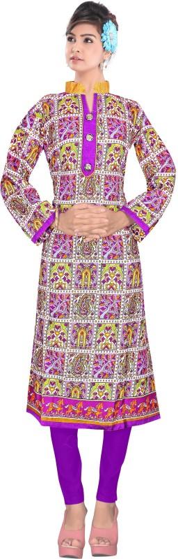 Winza Designer Cotton Printed Kurti Fabric(Un-stitched)
