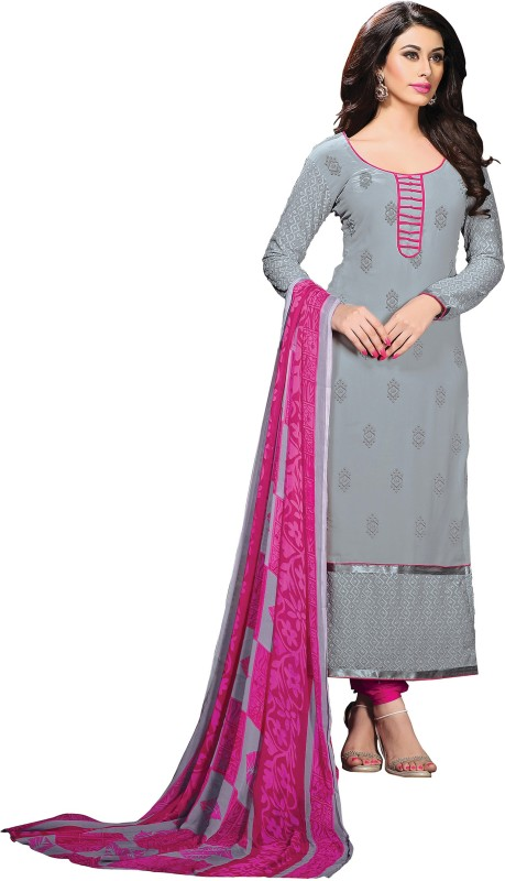 Women Latest Fancy Designer Salwar Suit Poly Georgette Embroidered, Embellished Salwar Suit Material(Unstitched)