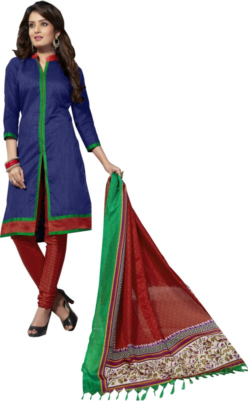 Women Latest Fancy Designer Salwar Suit Poly Silk Embellished, Solid Salwar Suit Material(Unstitched)
