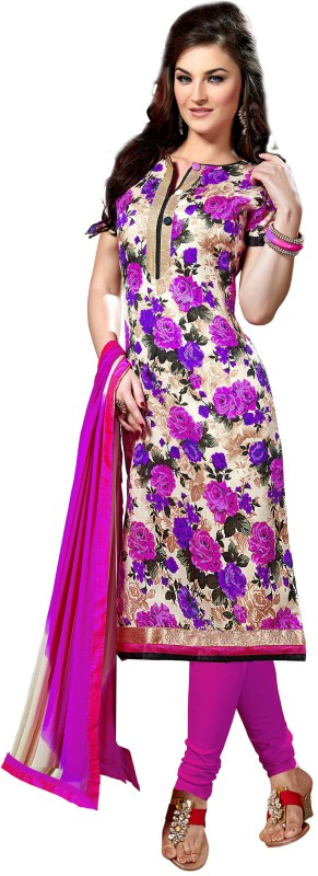 Women Latest Fancy Designer Salwar Suit Silk Printed Salwar Suit Dupatta Material(Un-stitched)