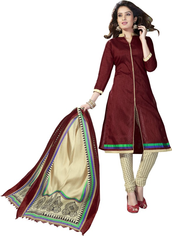 Women Latest Fancy Designer Salwar Suit Poly Silk Embellished, Solid Salwar Suit Material