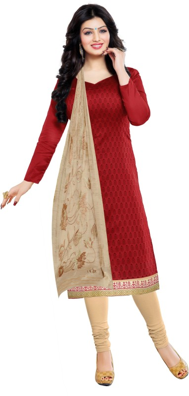 Women Latest Fancy Designer Salwar Suit Poly Chanderi Self Design, Solid Salwar Suit Material(Unstitched)