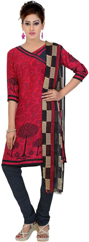 Sharvi Synthetic Printed Salwar Suit Dupatta Material(Un-stitched)