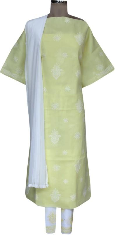 Ada Cotton Embroidered Salwar Suit Dupatta Material(Un-stitched)
