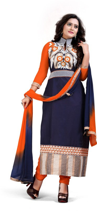 Zelly Creation Cotton Embroidered Salwar Suit Dupatta Material(Un-stitched)