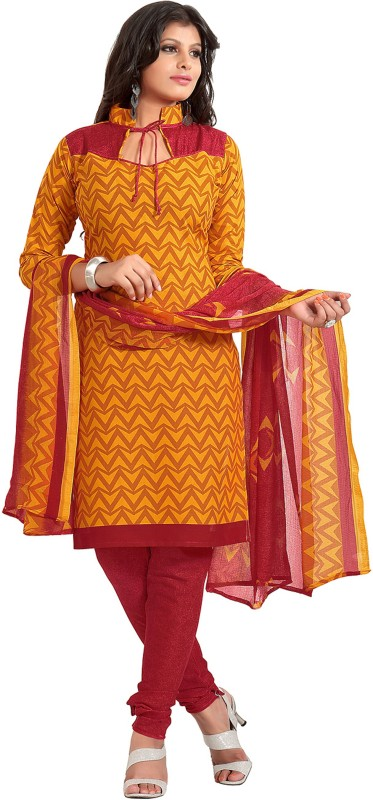 Women Latest Fancy Designer Salwar Suit Cotton Blend Printed Salwar Suit Material(Unstitched)