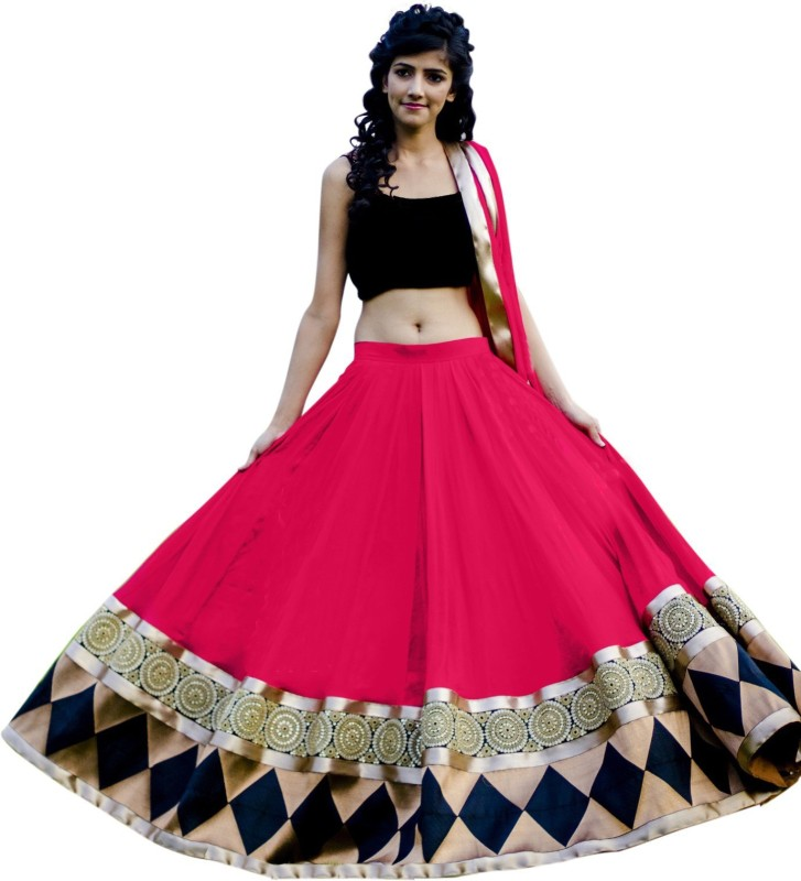 sejal Embroidered Lehenga, Choli and Dupatta Set(Multicolor)