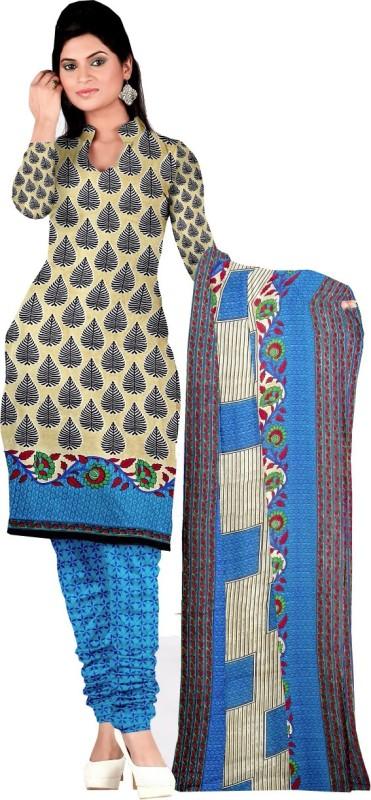 Indian Boutique Georgette Printed Semi-stitched Salwar Suit Dupatta Material