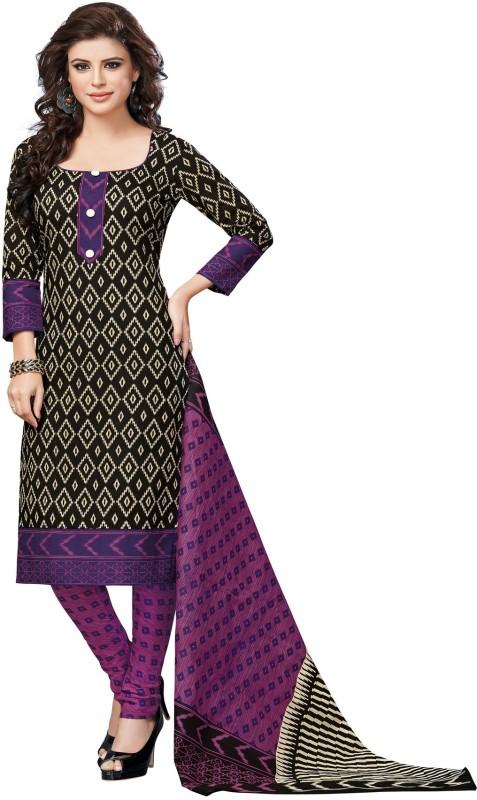 Salwar Studio Cotton Chevron Salwar Suit Dupatta Material(Un-stitched)