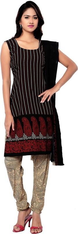 Aviaana Crepe Printed Salwar Suit Dupatta Material(Un-stitched)