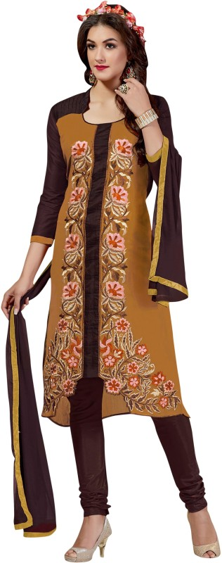 Aasvaa Cotton Embroidered Salwar Suit Dupatta Material(Un-stitched)