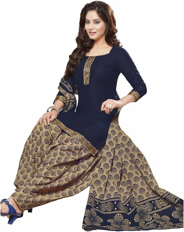 Jevi Prints Cotton Printed, Solid Salwar Suit Dupatta Material(Un-stitched)