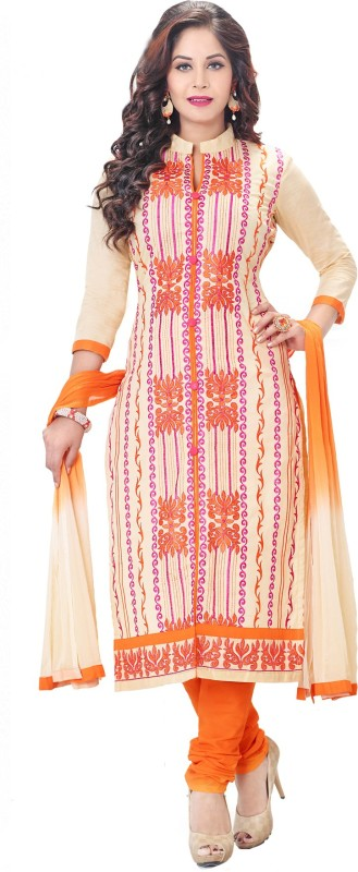 Salwar Studio Cotton Self Design, Embroidered Salwar Suit Dupatta Material(Un-stitched)