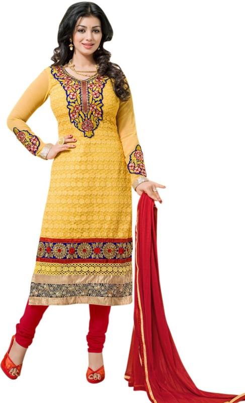 Saara Georgette Self Design Dress/Top Material(Un-stitched)