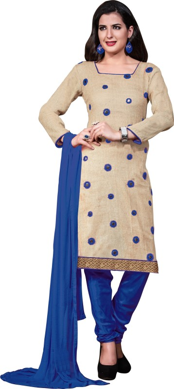 Women Latest Fancy Designer Salwar Suit Cotton Jute Blend Solid Salwar Suit Material(Unstitched)