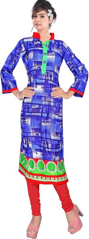Winza Designer Cotton Blend Printed Kurta Fabric(Semi Stitched)