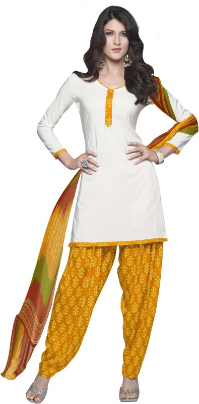 Women Latest Fancy Designer Salwar Suit Poly Crepe Solid Salwar Suit Material(Unstitched)
