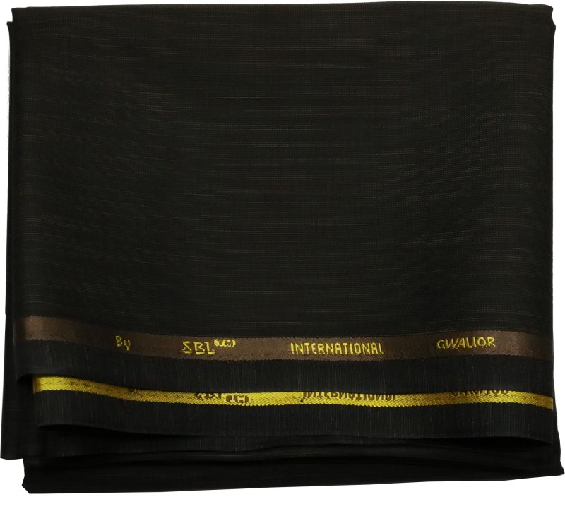 Gwalior Suitings Cotton Polyester Blend Self Design Trouser Fabric(Un-stitched)