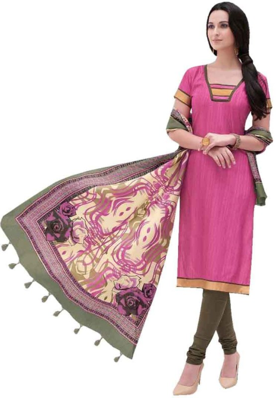 King Sales Silk Printed Salwar Suit Dupatta Material(Un-stitched)