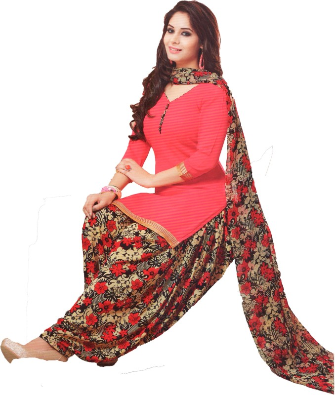 Women Shoppee Synthetic Printed Salwar Suit Dupatta Material(Un-stitched)